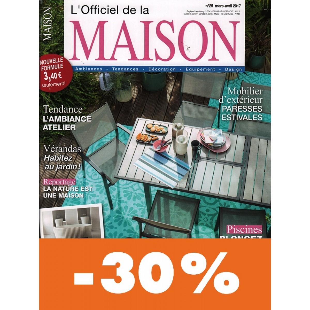 Abonnement l 39 officiel de la maison pas cher mag24 - L officiel de la maison ...