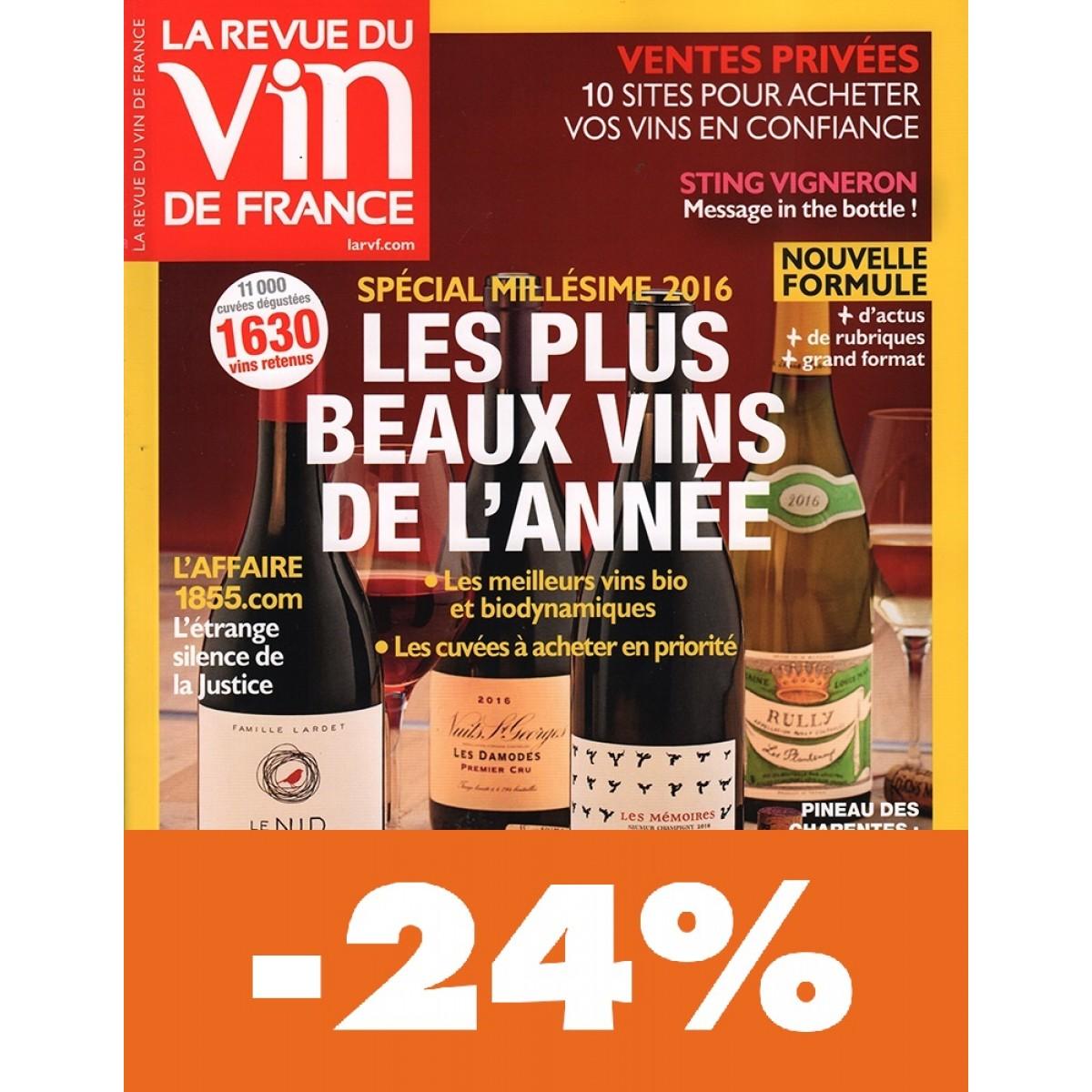 Abonnement la revue du vin de france pas cher mag24 for Revue vin de france