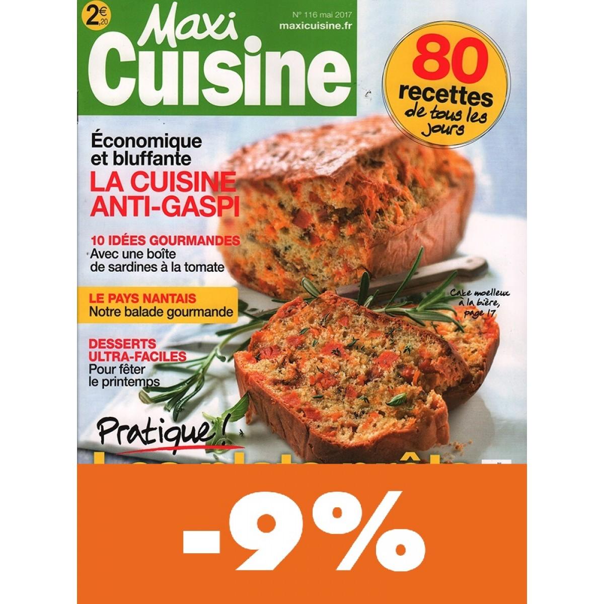 Abonnement maxi cuisine pas cher mag24 discount for Maxi cuisine abonnement